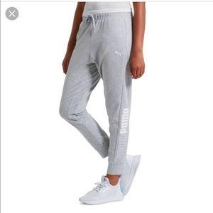 NWT puma modern sport gray track pants